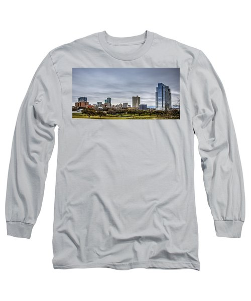 Downtown Fort Worth Trinity Trail Long Sleeve T-Shirt