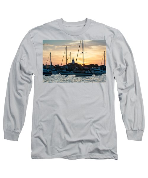 Long Sleeve T-Shirt featuring the photograph Downtown Glow by Jennifer Casey