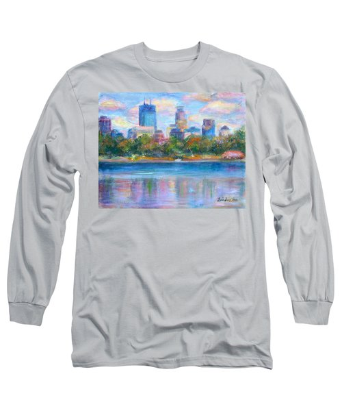 Downtown Minneapolis Skyline From Lake Calhoun Long Sleeve T-Shirt