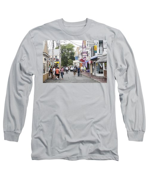 Downtown Scene In Provincetown On Cape Cod In Massachusetts Long Sleeve T-Shirt