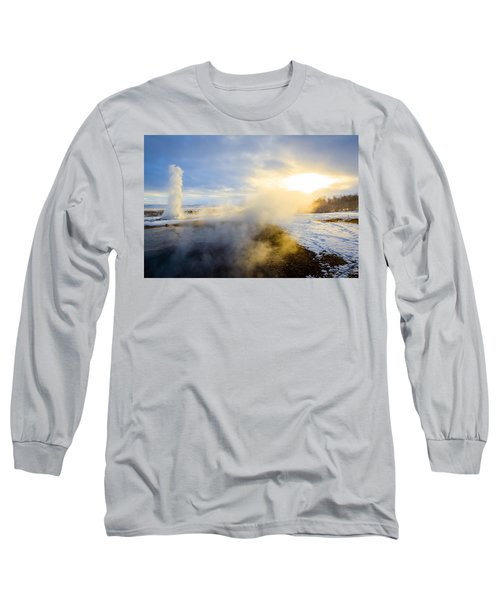 Long Sleeve T-Shirt featuring the photograph Drawn To The Sun by Peta Thames
