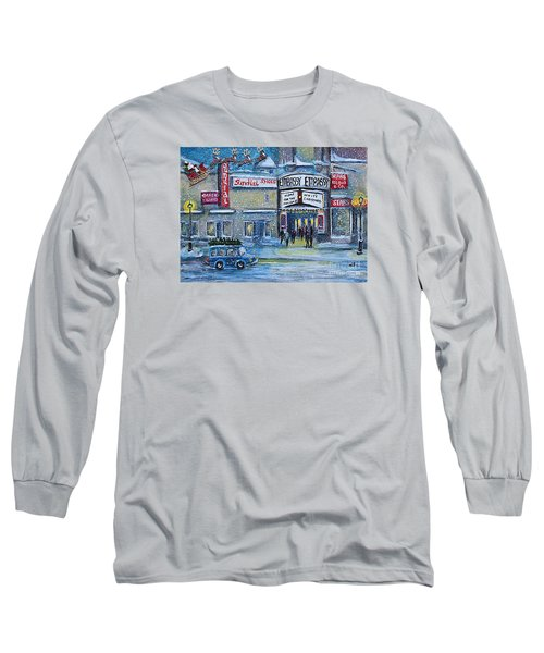 Dreaming Of A White Christmas Long Sleeve T-Shirt by Rita Brown