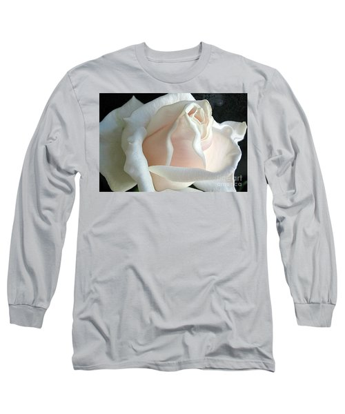 Dreamy White Rose Long Sleeve T-Shirt