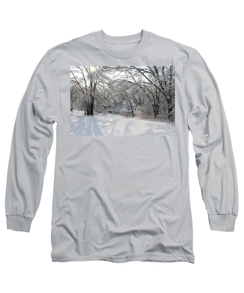 Long Sleeve T-Shirt featuring the photograph Dressed In Snow by Nina Silver