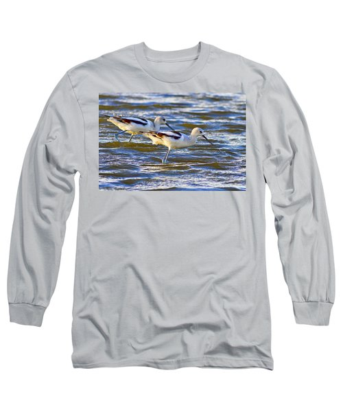 Long Sleeve T-Shirt featuring the photograph Dribbling Contest by Gary Holmes