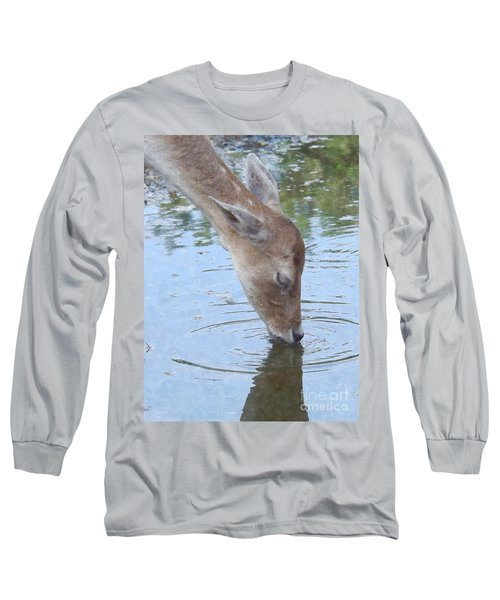 Drinking Doe Long Sleeve T-Shirt