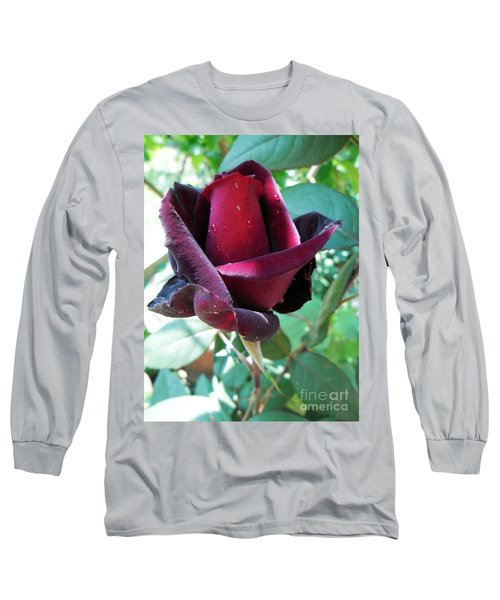 Long Sleeve T-Shirt featuring the photograph Droplets On The Petals by Vesna Martinjak