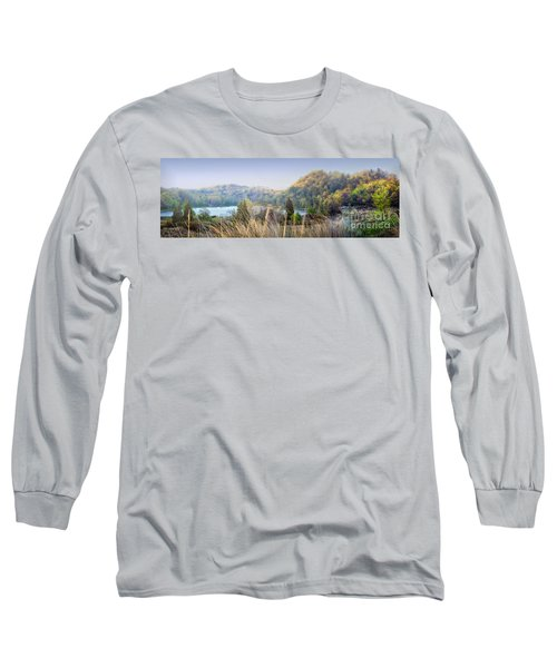 Dune Lake Panorama Saugatuck Mi Long Sleeve T-Shirt