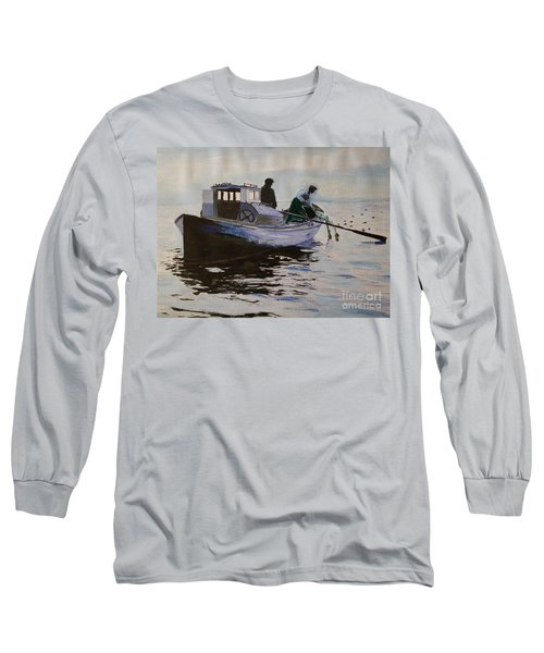 Early Gillnetter At Work Long Sleeve T-Shirt