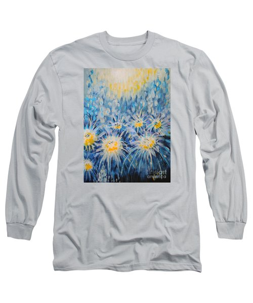 Long Sleeve T-Shirt featuring the painting Edentian Garden by Holly Carmichael