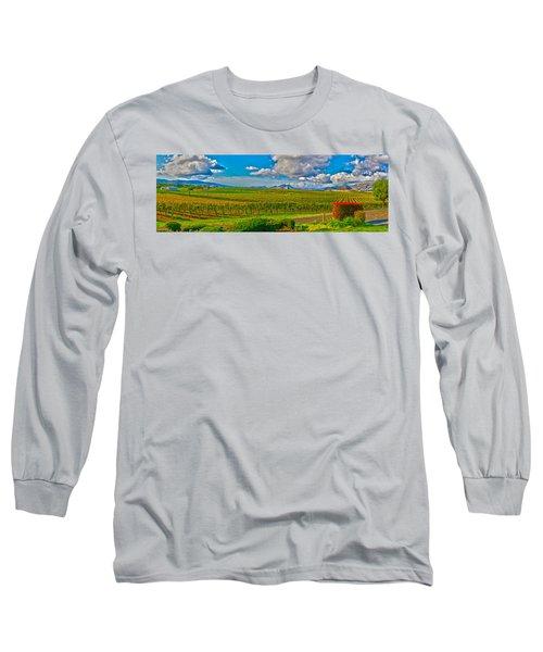 Edna Wineries Ca Long Sleeve T-Shirt by Richard J Cassato