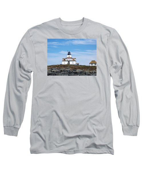 Egg Rock Lighthouse Long Sleeve T-Shirt by Catherine Gagne