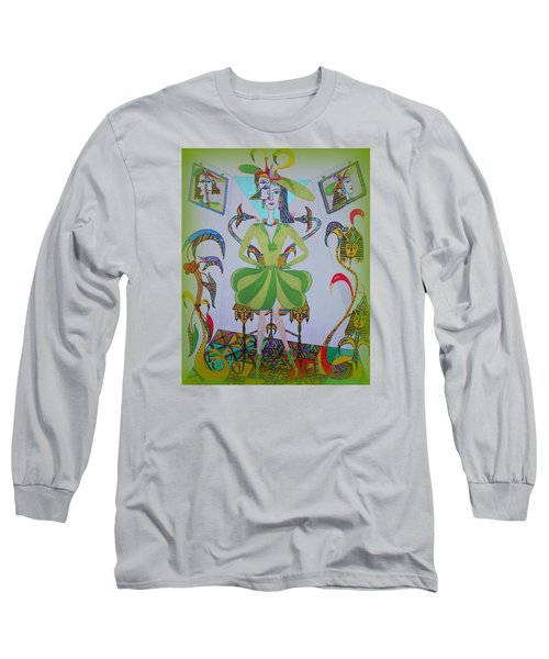 Long Sleeve T-Shirt featuring the painting Eleonore Friend Princess Melisa by Marie Schwarzer