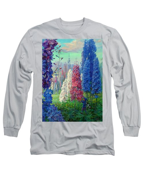Elf And Fantastic Flowers Long Sleeve T-Shirt