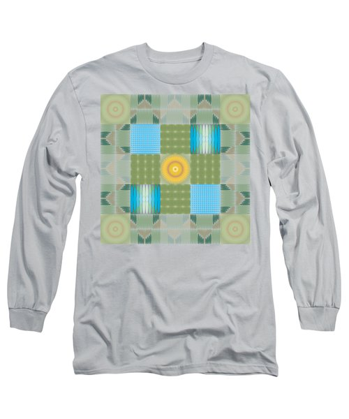 Ellipse Quilt 1 Long Sleeve T-Shirt by Kevin McLaughlin