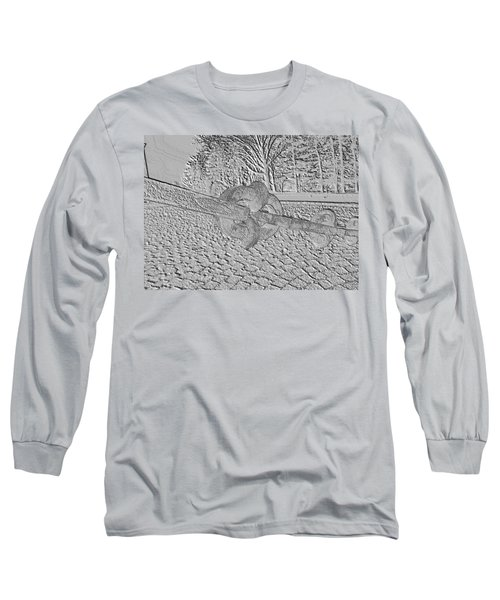 Long Sleeve T-Shirt featuring the photograph Embossed Chain by Michael Porchik