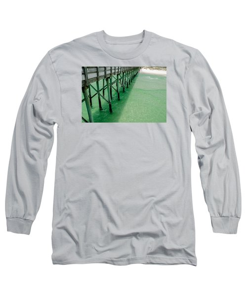 Long Sleeve T-Shirt featuring the photograph Emerald Green Tide  by Susan  McMenamin