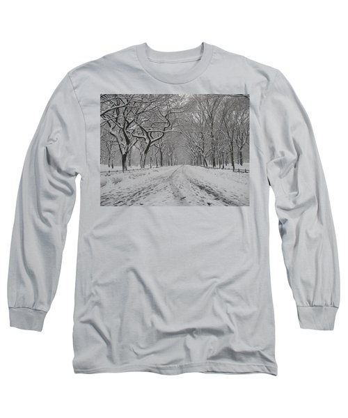 Empty Mall Walk Long Sleeve T-Shirt by Catie Canetti