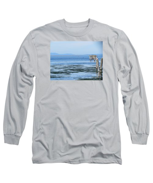 End Of The World In Blue Long Sleeve T-Shirt