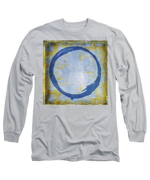 Enso No. 109 Blue On Blue Long Sleeve T-Shirt