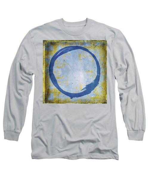 Enso No. 109 Blue On Blue Long Sleeve T-Shirt