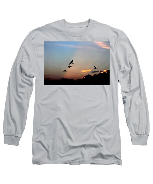 Evening Dance In The Sky Long Sleeve T-Shirt by Bruce Patrick Smith