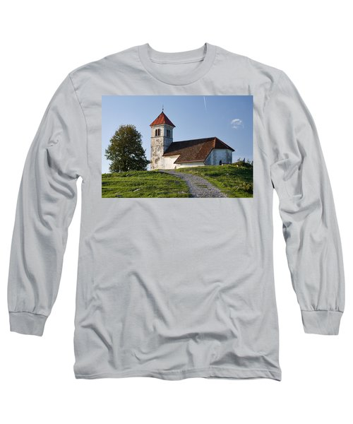 Evening Glow Over Church Long Sleeve T-Shirt