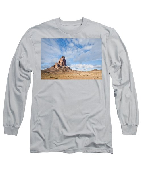 Evening Light On Agathla Peak Long Sleeve T-Shirt