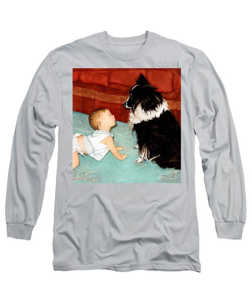 Face-to-nose Long Sleeve T-Shirt by Barbara Jewell