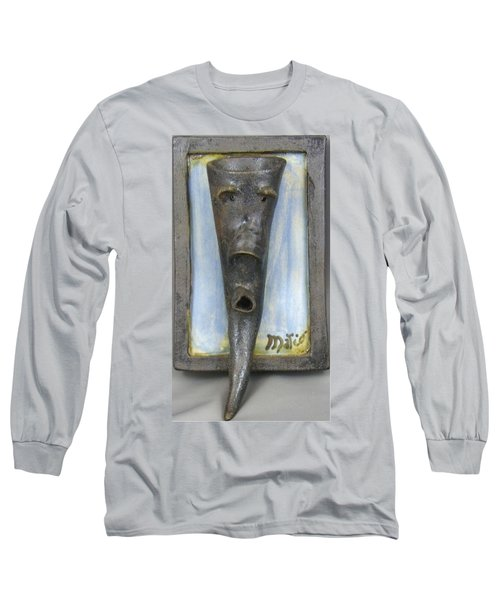Faces #3 Long Sleeve T-Shirt by Mario Perron