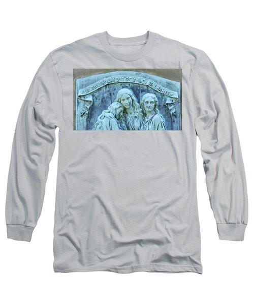 Long Sleeve T-Shirt featuring the photograph Faith Hope Charity by Kathy Barney