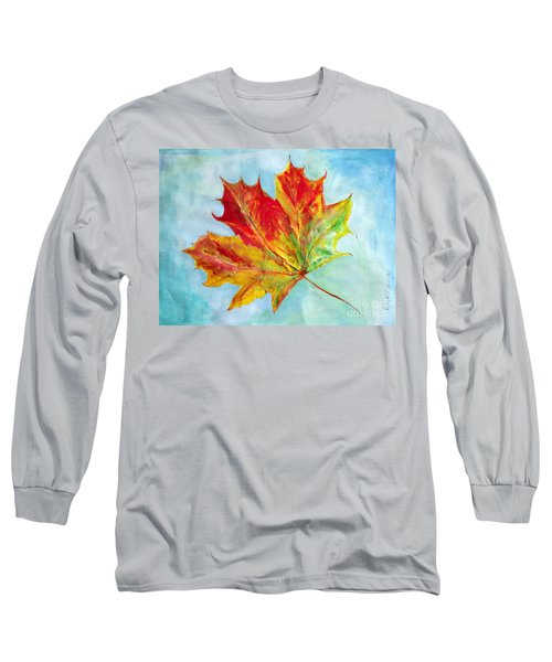 Falling Leaf - Painting Long Sleeve T-Shirt