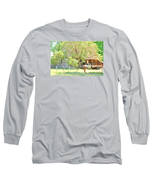 Long Sleeve T-Shirt featuring the photograph Farm Living by Marilyn Diaz