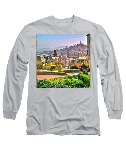 Favorite Places Lombard Street San Francisco California Long Sleeve T-Shirt