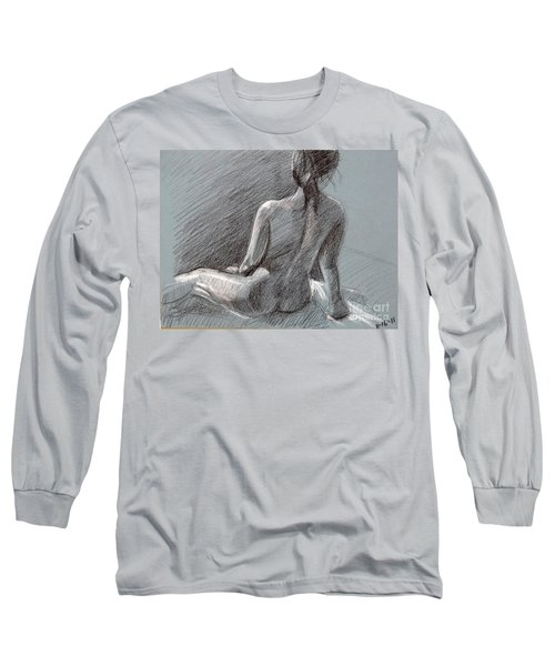 Female Seated Back Long Sleeve T-Shirt