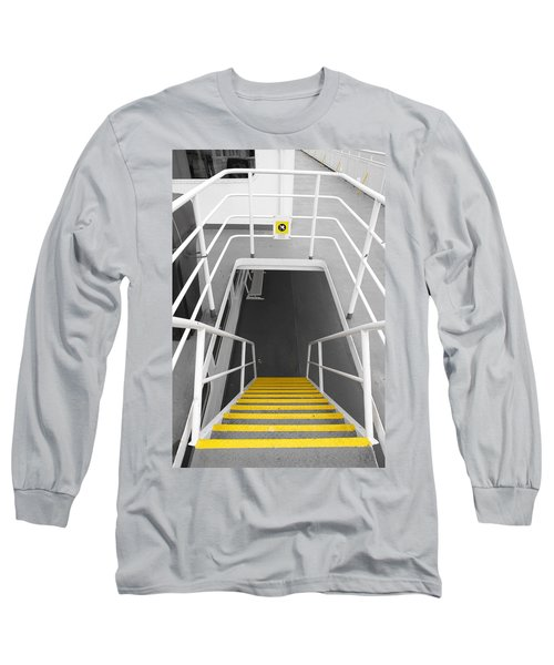Long Sleeve T-Shirt featuring the photograph Ferry Stairwell by Marilyn Wilson