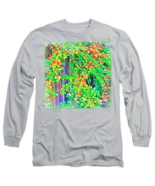 Festive Berries #floral #landscape Long Sleeve T-Shirt