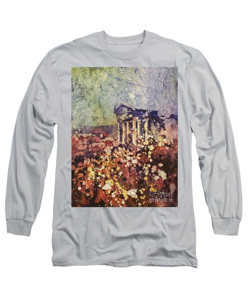 Fields Of Flower- And Roman Temple Long Sleeve T-Shirt