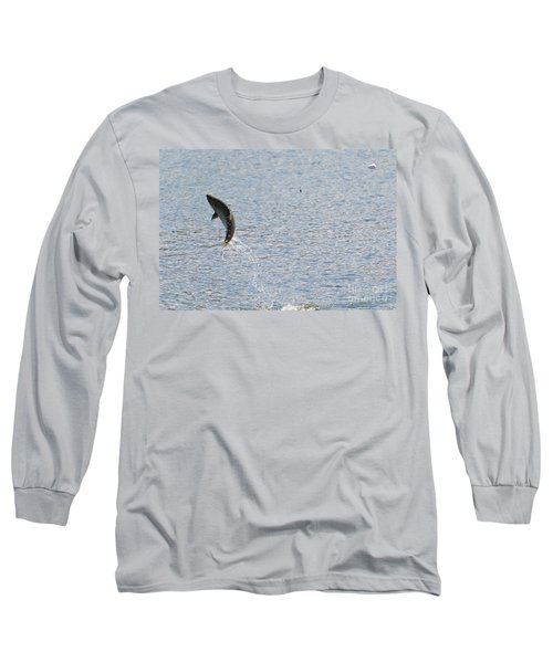 Fighting Chinook Salmon Long Sleeve T-Shirt