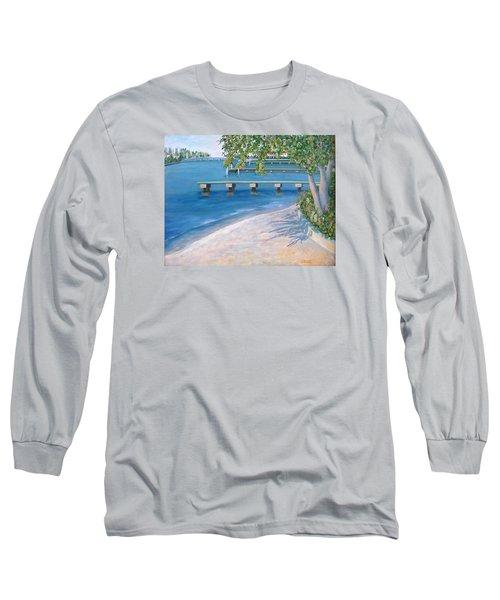 Long Sleeve T-Shirt featuring the painting Finding Flagler by Karen Zuk Rosenblatt