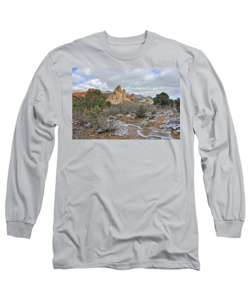 Long Sleeve T-Shirt featuring the photograph First Snow At Garden Of The Gods by Diane Alexander