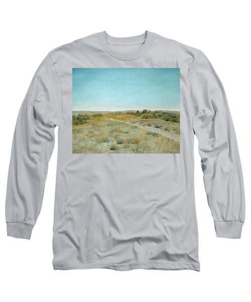 First Touch Of Autumn Long Sleeve T-Shirt by William Merritt Chase