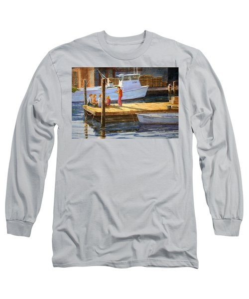 Fish Tales At Cortez Long Sleeve T-Shirt by Roger Rockefeller