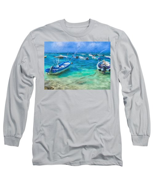 Fishing Boats Long Sleeve T-Shirt by Peggy Hughes