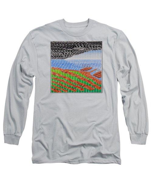 Fishing Shack Town Long Sleeve T-Shirt