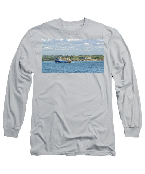 Long Sleeve T-Shirt featuring the photograph Fishing Trawler Coming Into Port by Jane Luxton