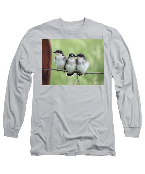 Fledged Siblings Long Sleeve T-Shirt by Bonfire Photography