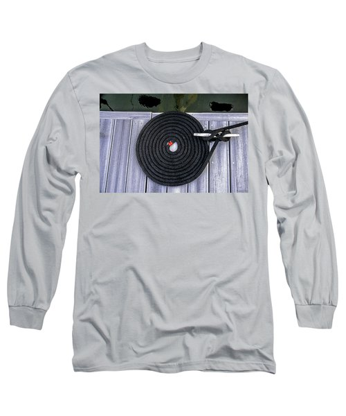 Flemish Flake Rope Coil Long Sleeve T-Shirt by Marty Saccone