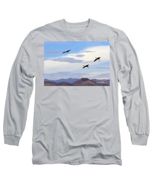 Flight Of The Sandhill Cranes Long Sleeve T-Shirt