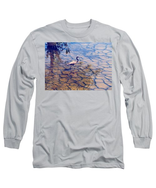 Florida Wetlands Wading Heron Long Sleeve T-Shirt